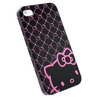 HELLO KITTY iPhone 4 Protective Case Wrap w Screen Protector KT4488BK4