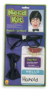 NERD KIT DELUXE COSTUME ACCESSORRIE DRESS UP COSTUME PARTY NEW