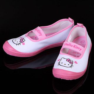 Authentic HELLO KITTY Pink Girls Casual Gym Shoes Sandal Trainer Size