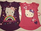 HELLO KITTY Girls S M L or XL Pink Purple Choice Short Sleeve Cotton