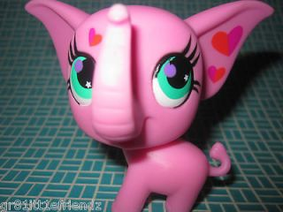 LITTLEST PET SHOP lot #2844 BRIGHT PINK CIRCUS ELEPHANT covered w