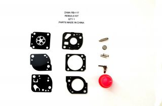 Rebuild Kit for Zama RB 117 (Poulan WeedEater PP025, 026, 125