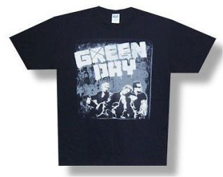 GREEN DAY   TOUR 2010 GREY WALL BLACK T SHIRT   NEW ADULT SMALL S