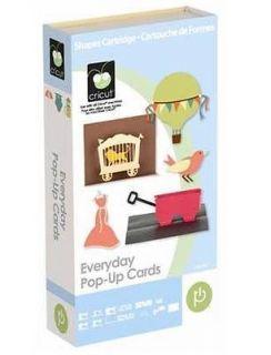Cricut Everyday Pop Up Cards Cartridge Brand New