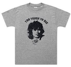 Keith Richards To Tough To Die music punk rock t shirt Gray S 2XL