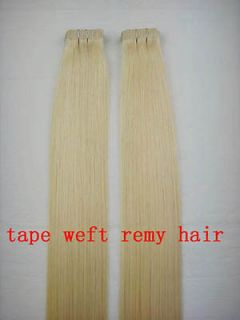 Remy A+ Tape Human Hair Extension #613 Light Blonde 1845cm,50g&2