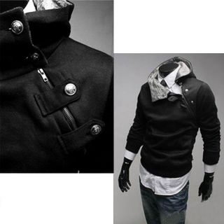N4U8 Fashion Vintage Mens Slim Designed Fitted Hoodies Coat Jacket