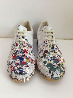 Maison Martin Margiela Mens Colour Drops Sneakers Paint Splatter
