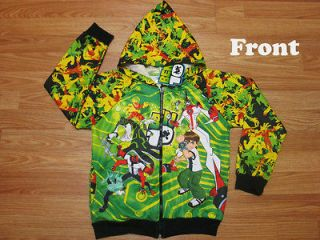 Ben 10 Hooded Spring Jacket #01 Green Size XXL age 12 14