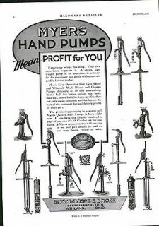 1935 AD Myers Water Hand Pumps Windmill Well