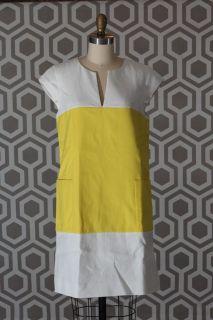 NWT Kate Spade Hana Colorblock Dress Yellow White 8
