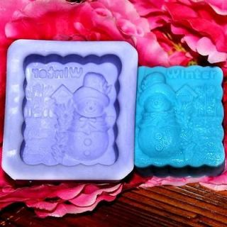 Season of Winter (R1052) Silicone Handmade Soap Mold Crafts DIY Mold