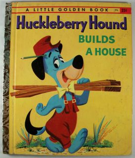 Hanna Barbaras Huckleberry Hound Builds A House 1959 Little Golden