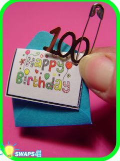 HAPPY BIRTHDAY Card Girl Scout 100th Anniversary SWAPS Girl Kit