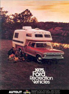 1975 Ford Pickup Camper Travel Trailer Brochure