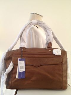 NWT REBECCA MINKOFF MAB MINI SATCHEL BAG TAN METALLIC LEATHER HANDBAG