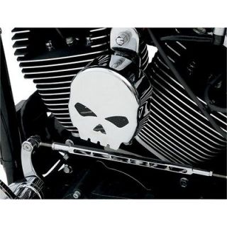 Chrome Skull Profile Horn Cover for Harley Softail Dyna Touring