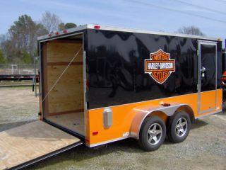 14enclosed cargo bike trailer/harley Davidson decal