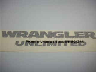 Black Jeep Wrangler Unlimited Decal 1FN59GX9AC OEM Mopar Factory Jeep