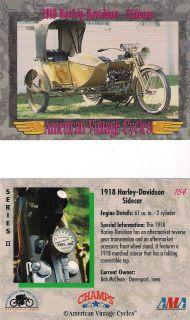 Vinage 1918 Harley Davidson Sidecar Moorcycle Engine 61 cu. in. 2