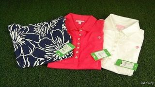Lilly Pulitzer Trophy Polo Golf Shirt Or Lana Top   XS S M L XL i