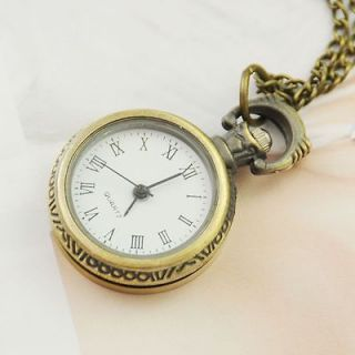 Roman Women Ladies Necklace Quartz Pendant Pocket Watch Vintage Nurse