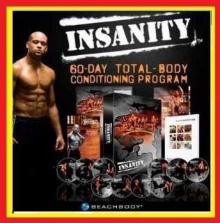 60 Day Workout 13 DVDS SHAUN T INSANITY   With Calendar and Guides
