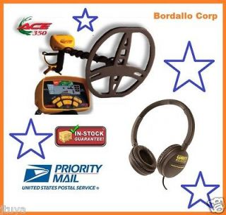 GARRETT ACE 350 METAL DETECTOR WITH HEADPHONES AND INSTRUCTIONAL DVD