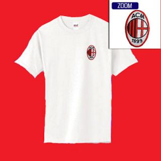 AC MILAN Football Soccer Patch Shirt WHITE $14.99 M XL NEW COOL