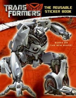 Transformers The Reusable Sticker Book by Lana Jacobs 2007, Paperback
