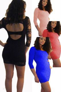 SUPER SEXY PEEP HOLE MINI LACE CLUB PARTY DRESS 8,10,12