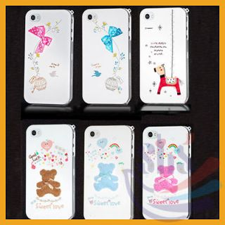 Cute Series Full Body Cover Hard Case Fits for iphone 4 4G 4S