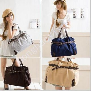 Korea Lady handbag large Canvas Hobo bag Tote Bag Messenger Shoulder