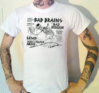 Religion Vintage USA Gig Flyer T Shirt Fugazi Black Flag Hardcore Punk