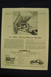 1926 1927 Heil Dump Truck Bodies for Ford Model T Sales Brochure