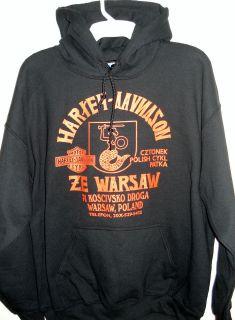 Harley Davidson Warsaw Poland Biker Hoodie Sizes M 5XL Black Vintage