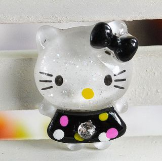 Glitter Hello Kitty Cats Flat back appliques/craf​t/Cabochon T59