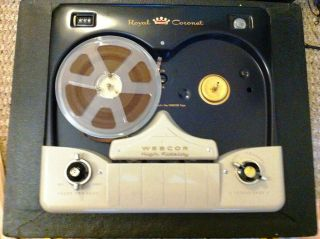 Webcor EP2612 Royal Coronet Reel to Reel Tape Recorder/Player