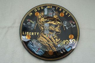 Vintage 10 Ford Gum and Machine Co. Glass Promo Penny Plate