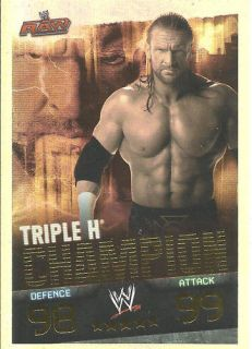 TOPPS WWE Slam Attax EVOLUTION   TRIPLE H   Foil Champion Card
