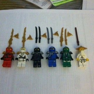 Lego Ninjago Mini Figures Kai ZX, Cole ZX, Jay ZX, Zane ZX, Lloyd ZX