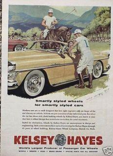 1954 Kelsey Hayes Wheel ORIGINAL OLD Ad 5+ FREE SHIP