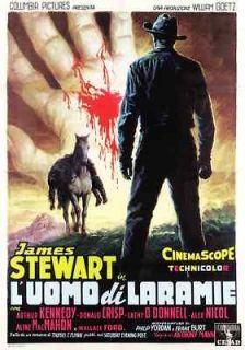 THE MAN FROM LARAMIE POSTER  JAMES STEWART  ITALY B   UNIQUE AT