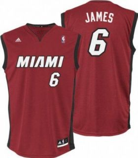 Miami Heat Lebron James RED (Garnet) Replica Jersey sz XL