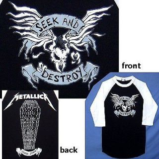 METALLICA SEEK & DESTROY TOUR 2008 09 JERSEY SHIRT S