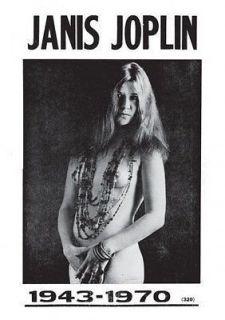 Janis Joplin vintage repro poster, USA 1943 1970