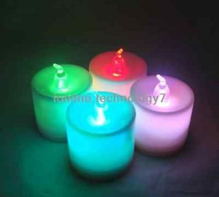 Color Changing LED Tealights LED Candles lights Set of 4,Xmas gift