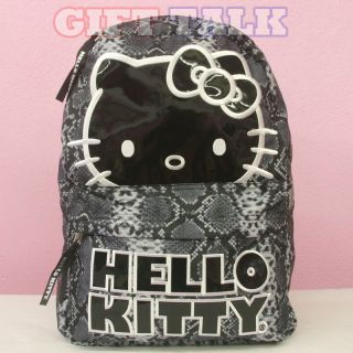 Hello Kitty School Backpack16 Large School Bag   Snake Skin/Animal
