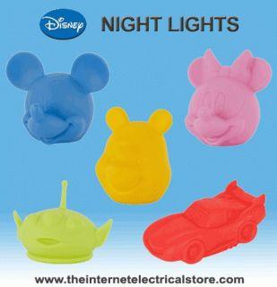 Endon Disney Childrens Night Lights Toy Story, Winnie the Pooh, Cars