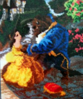 MCG TEXTILES DISNEY LATCH HOOK RUG KIT BEAUTY AND THE BEAST